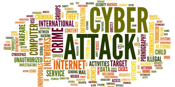 Cyber attack in word tag cloud